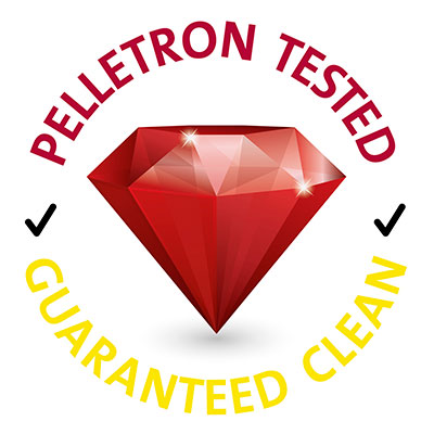 Pelletron Guaranteed Clean